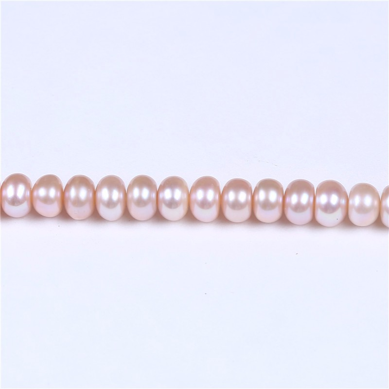 8-9mm Cultured Button Pearl Button shape pink color for making necklace