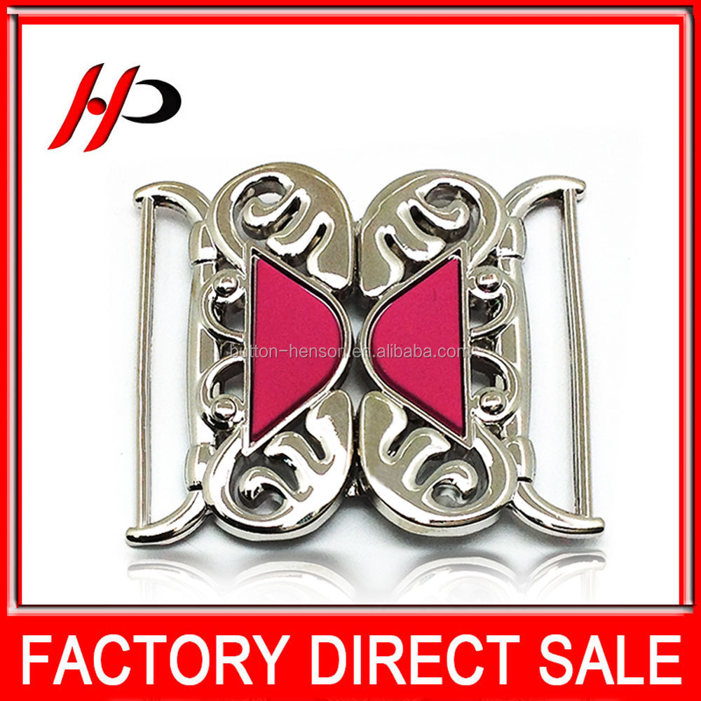 China manufacturer 41mm classic silver plating custom metal die casting zinc alloy belt buckle for coat belt