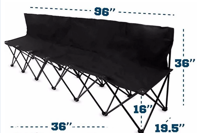 Cool Tianye Steel Portable Folding Camping 6 Seat Bench Chair Dailytribune Chair Design For Home Dailytribuneorg