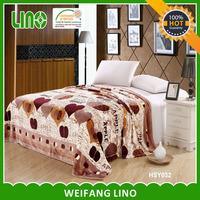 100% polyester coral fleece blanket printing flannel blanket/acrylic mink blankets