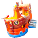 High Quality NEVERLAND TOYS Bouncer Pirate Ship Bounce And Double Lane Slide Bouncy Combo Inflatable House For Kids