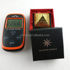 Gold Negative Ion Scalar Energy Pyramid With Factory Price