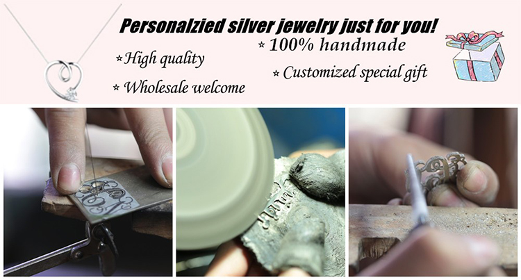 1 Min Order Customized 18K White Gold Plated Personalized Name Necklace
