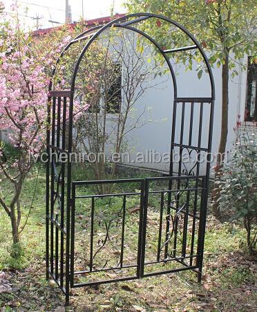 Square Tube Metal Garden Arch With Gaterosenbogen Mit Tor Buy