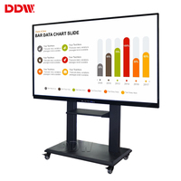 Quality supplier 65 inch interactive whiteboard smart tv Full HD no projector portable interactive touch screen