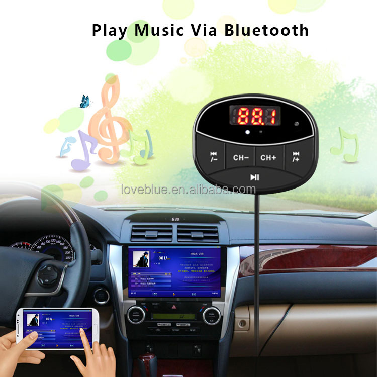 2016 Newest dab radio receiver /bluetooth fm transmitter and dual usb Car charger