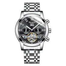 Мужские автоматические механические часы HAIQIN, роскошные деловые наручные часы с турбийоном, Reloj hombres, 2019(Китай)