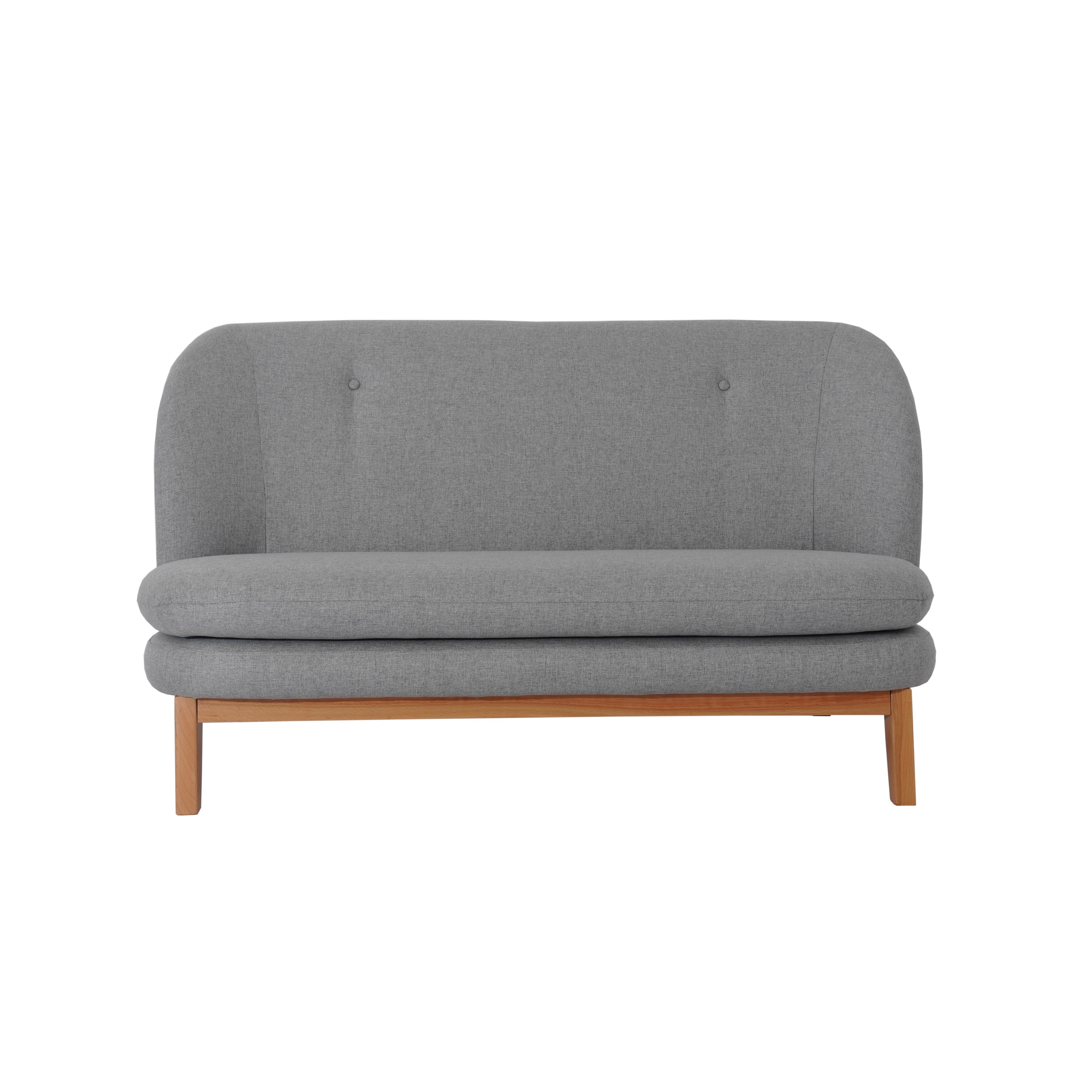 Nisco Living Room Furniture Mid Century Modern Tufted Button Armless Settee In Grey Fabric Buy Simple Style 2 Seater Sofa With Wooden Frame Sofa