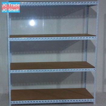 Slotted Angle Steel Storage Shelf and Rack