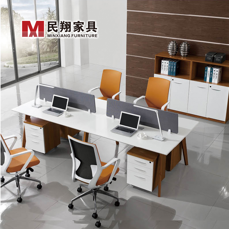 4 Person Office Workstation Call Center Parion 8 3 Workstations Modular Product On