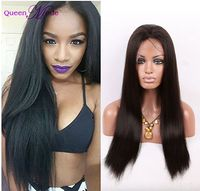 Stock factory price 100% virgin unprocessed brazilian human hair full lace wigs