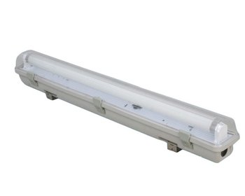 Fluorescent Light Fixture Plastic Cover And Diffuser Ip65 2x18w ...