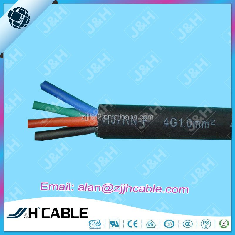 VDE Approved Rubber Cable H07RN-F