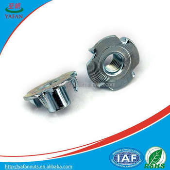 Tee Nuts Furniture Cam Lock Fasteners/ Zinc Plated Push Nut Tee Nuts