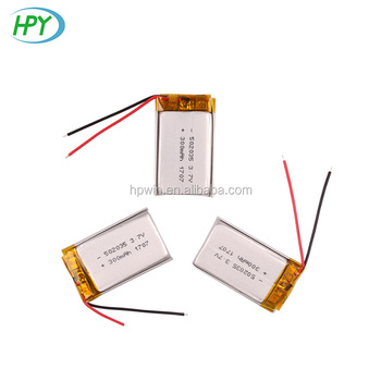 China factory OEM 502035 lipo battery 3.7v 300mah lithium ion battery