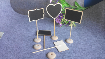wooden blackboard with stand