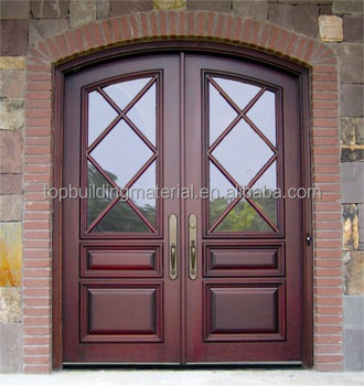 Cheap Solid Door Price Arched Wooden Door