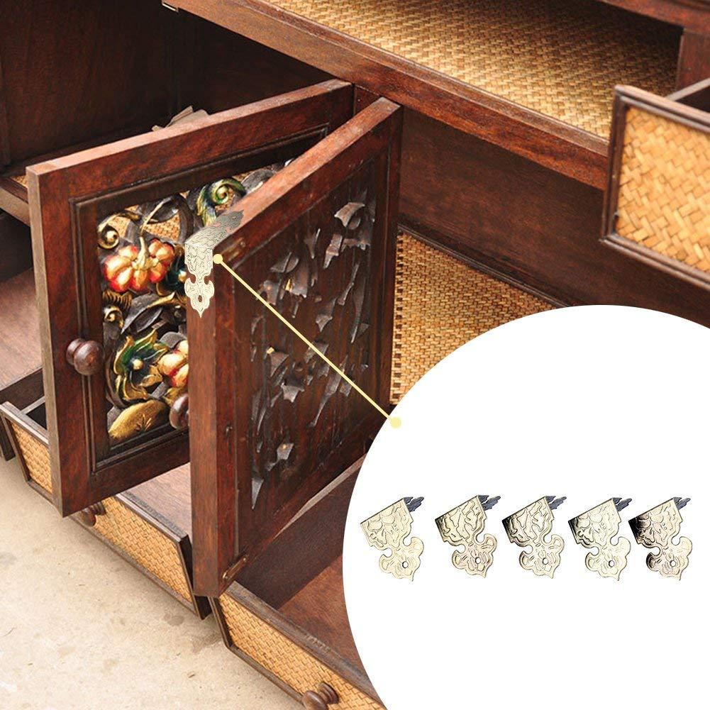 24pcs Vintage Large Wooden Chest Box Case Corners Protectors Bronze 29mm