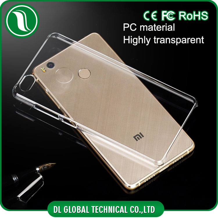 Hot Crystal Clear PC case for xiaomi mi 4s back cover for xiaomi mi4s DLPC02