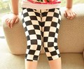 Fashion Children White And Black Grid Leggings