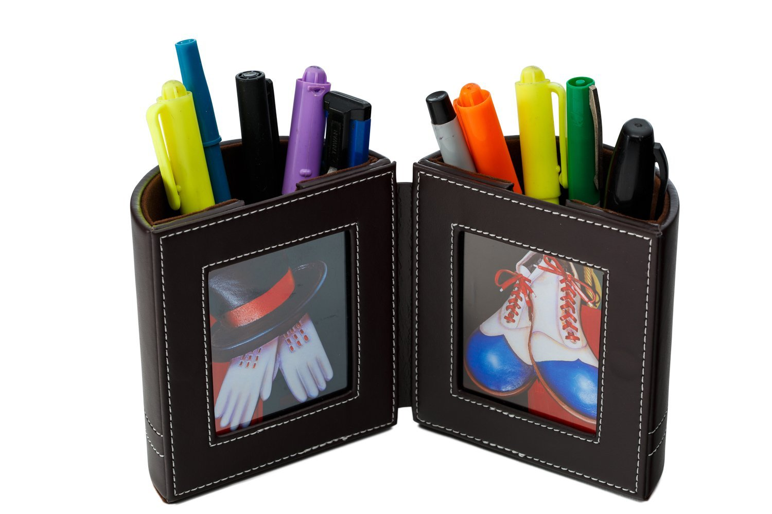 Get Quotations · Desk Organizer , Pen And Pencil Holder With Picture Frame  By Pensali   Office Supplies Space