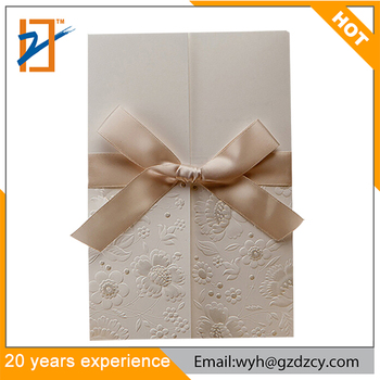 2018 Luxury Ivory Embossed Baby Naming Ceremony Gifts Engagement
