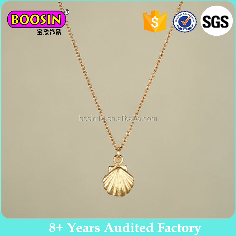 Elegant gold marvellous seashell necklace jewely for women #B35