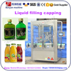 YB-YG2 automatic small scale milk fruit vegetable juice glass / pet bottle filling machine