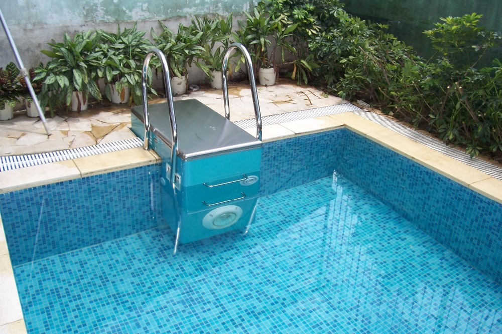 Safety stainless steel swimming pool platform decorative - Removable swimming pool handrails ...
