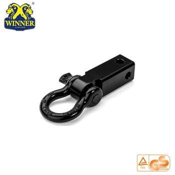 "2"" inch Black Powder coated Towing Shackle Bracket Hitch"