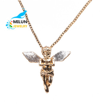 Custom gold angel pendant necklace for women buy angel necklace custom gold angel pendant necklace for women aloadofball Image collections
