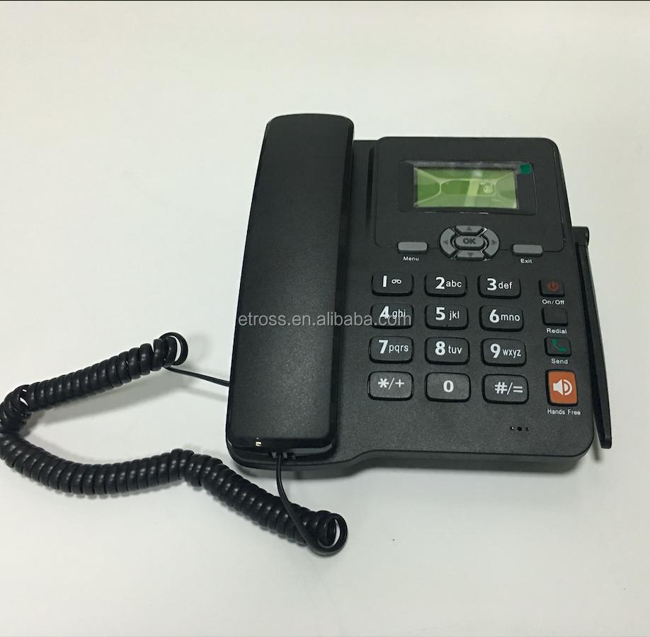 Have Stock Gsm Sim Card Fixed Wireless Phone With Single Dual Arabic Keypad Panasonic Cordless Kx Tg6811 Power Backup