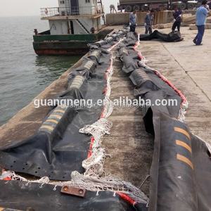 WGV 800 solid foam rubber oil barrier fence for control oil spill on sea