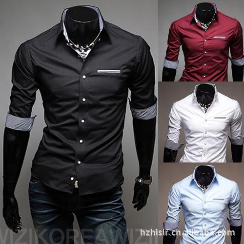 Nueva Camisa hombre Camisa blusa túnica 2015 hombres de