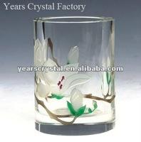 elegant crystal office stationery glass pen holder