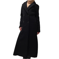 European Celebrity Autumn Fashion Lady Girls Straight Over Knee Long Down Casual Top Outer Wind Overcoats Coats
