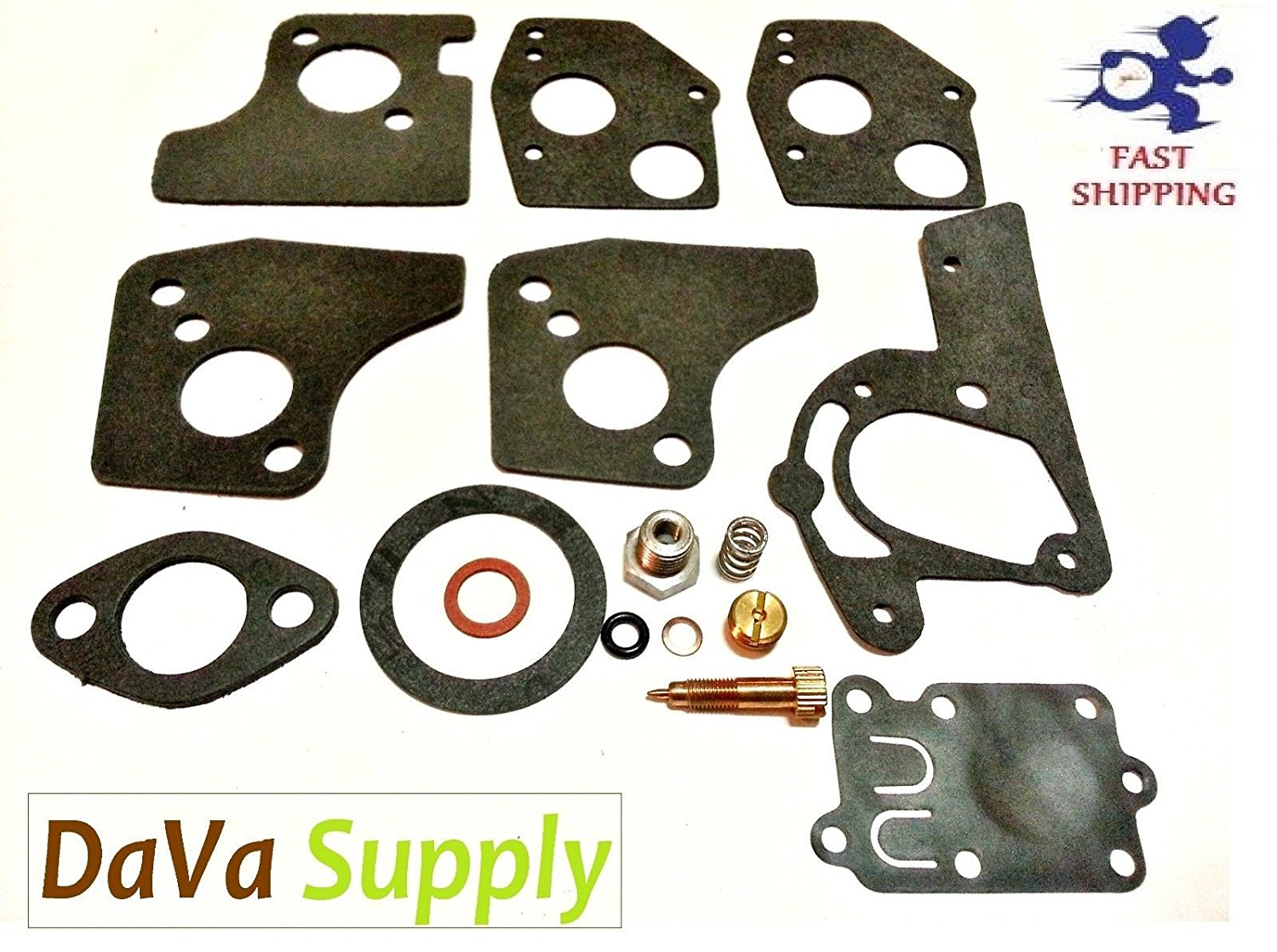 CARBURETOR OVERHAUL REBUILD / REPAIR KIT for Briggs & Stratton 494624, 495606 ;(from_dava_supply