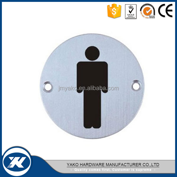 Popular stainless steel 304/316 toilet door sign plate