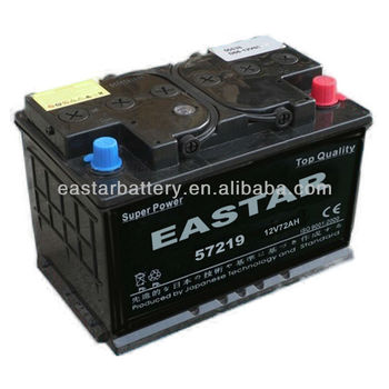 High Quality Good Export 57219 12v 72ah 12 Volt Small Car Battery Thailand