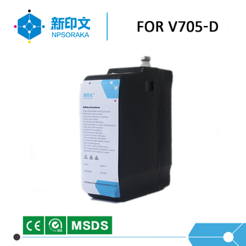 Compatible and  alternative v705d ink for videojet printer black solvent ink clean liquid