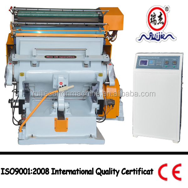 China high precision hot foil stamping die cutting machine ML-750 with CE