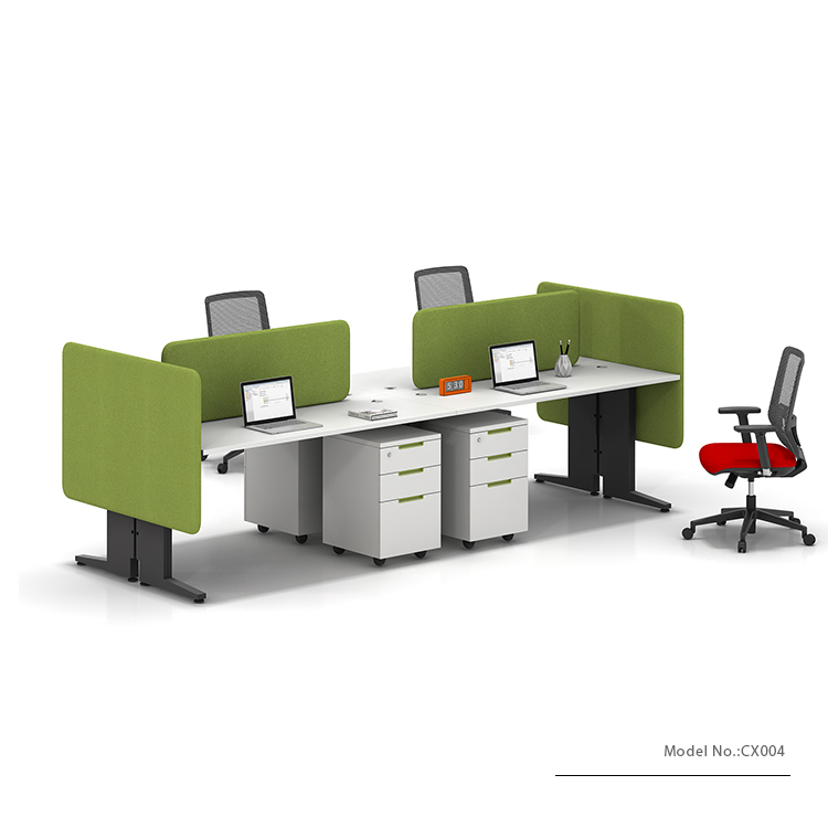 New Design 4 Person Desk For Office Workstations Parion Furniture Computer Work Two 2
