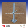 Adjustable painted scaffolding jacks with base plate