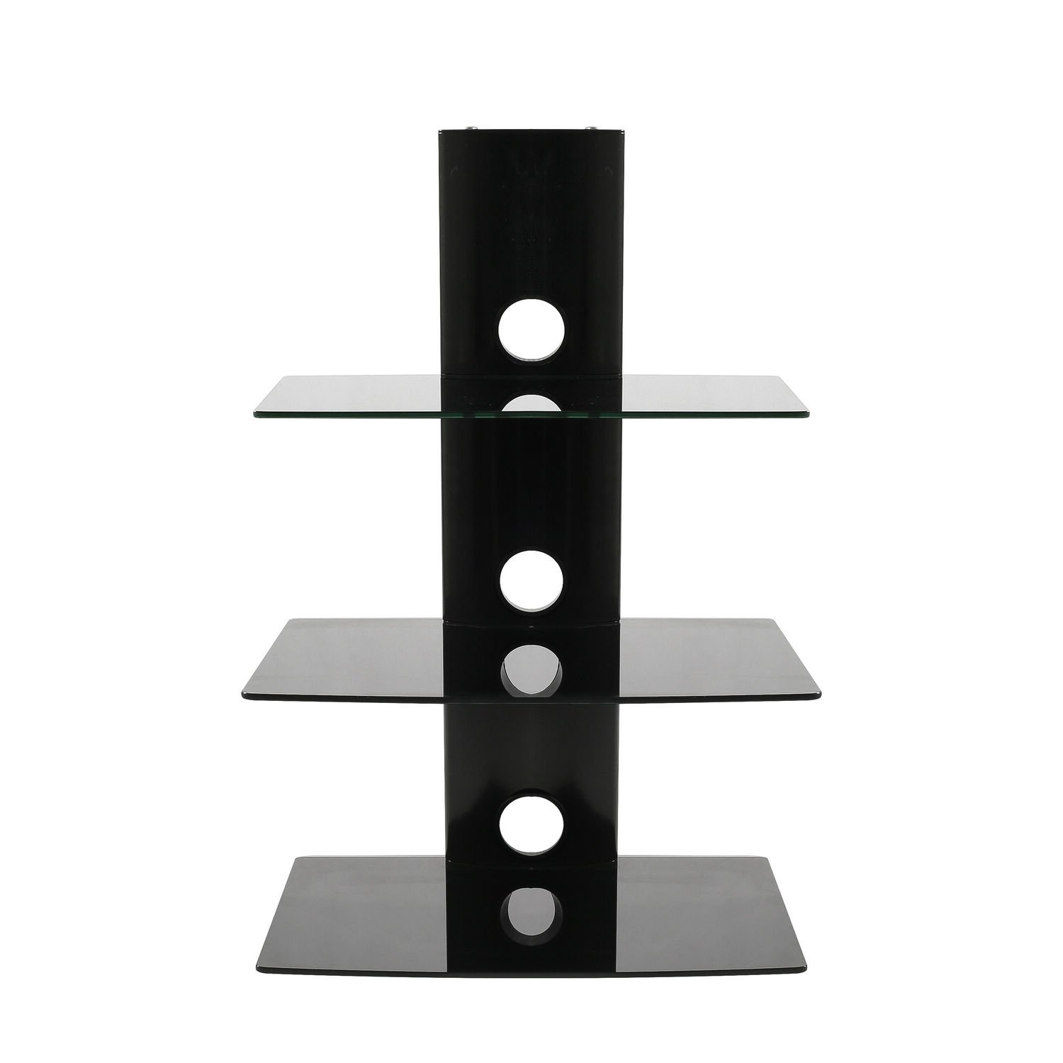 Buy Hodedah Black 3 Shelf Glass Tv Stand With Mount For Tvs Up To
