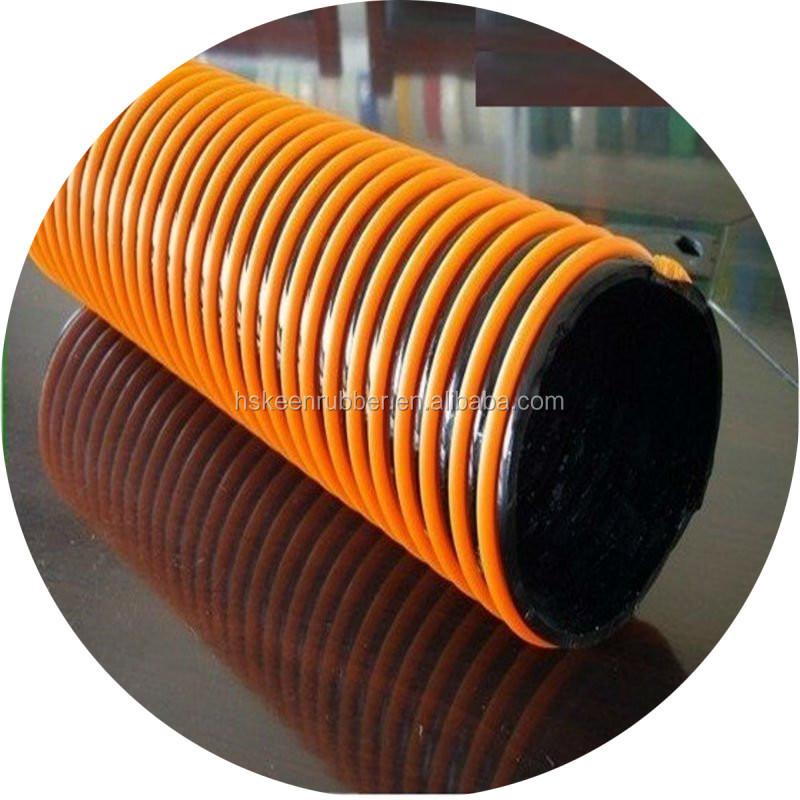 2015 hot sell PVC anti crush suction hose with rectangular pvc helix reinforced