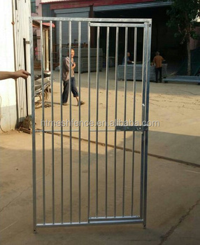 Exceptionnel Galvanised Dog Run Panels 8cm Bar Door Right Gate Dog Kennel
