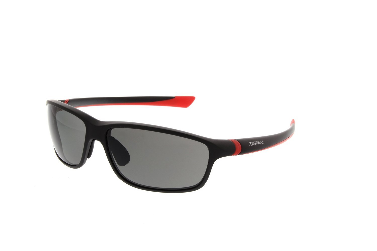 10777f216efc Get Quotations · TAG Heuer 27 Degree Matte Black Red Sunglasses Polarized  Lens 6021 902