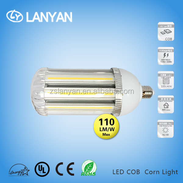 import goods of thailand EMC LVD TUV UL CE 30w 6000K led corn light cob 2 years'warrnty