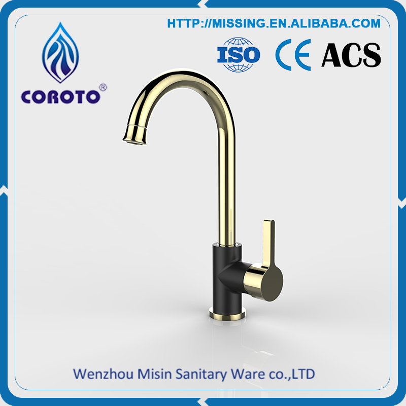 Best sale new eco friendly fashion kitchen tap brass gold for Eco friendly kitchen faucets