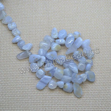 Factory sell natural agates beads freeform Blue lace agate